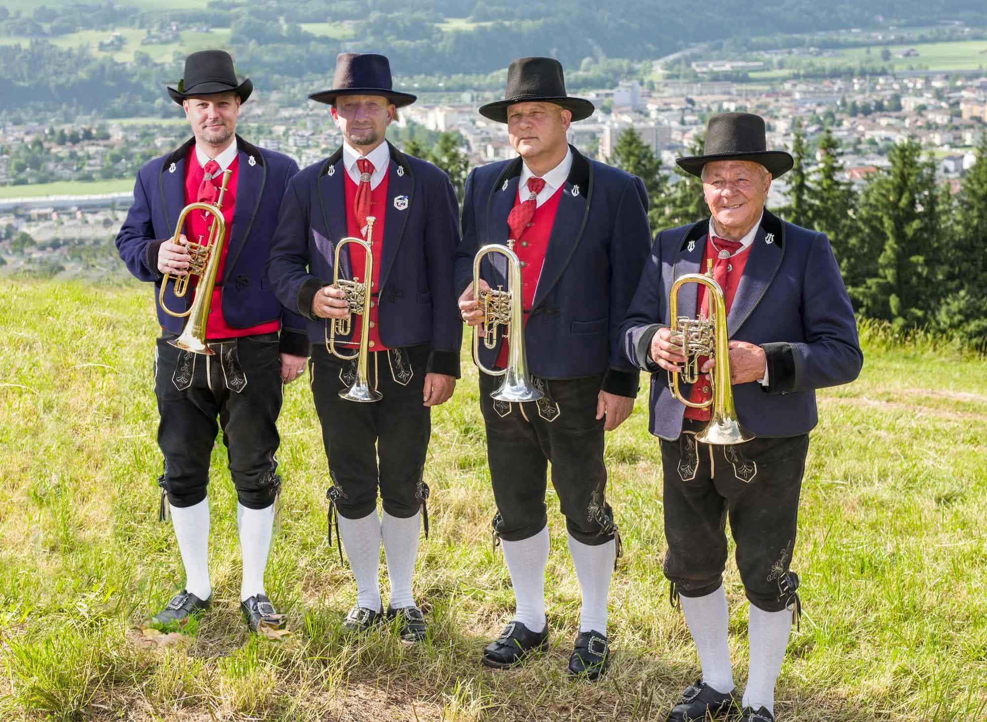 Flügelhorn: Andreas Kerschbaumer, Manfred Rieder, Günther Maier, Adi Erb